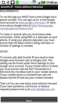 Groove IP - Voice without minutes